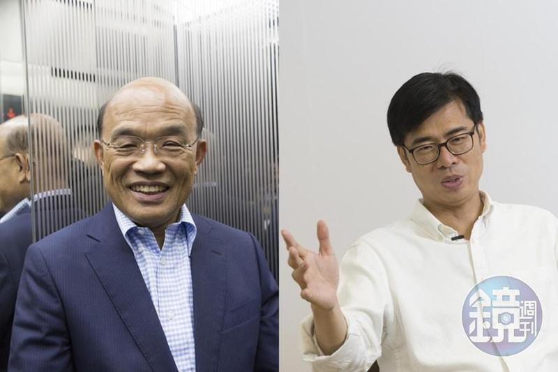 行政院長賴清德預計本週將請辭,預計將接任正副政院閣揆位置的是蘇貞昌與陳其邁呼聲最高。