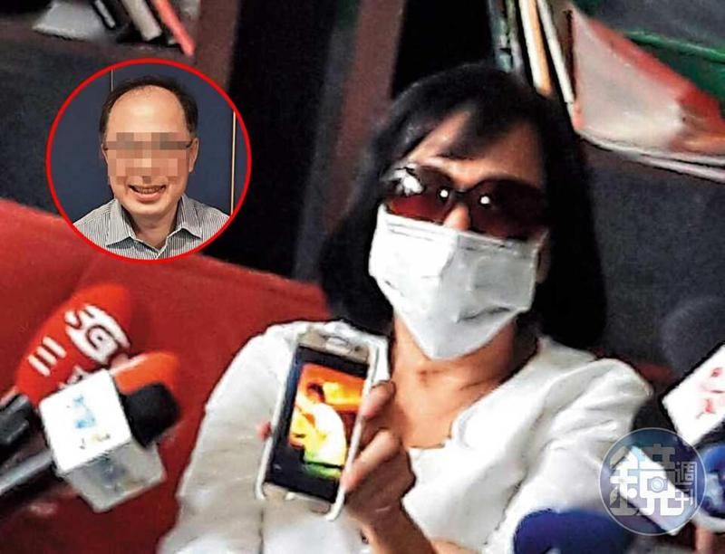 去年10月豐富的妻子賴女召開記者會公布豐富性愛光碟。(讀者提供)