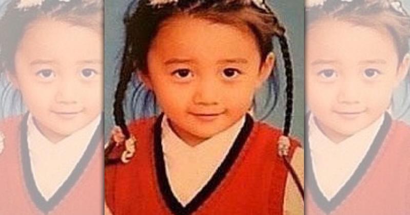 木村心美至今只有小時候曝光的照片一張。(翻攝新浪娛樂)