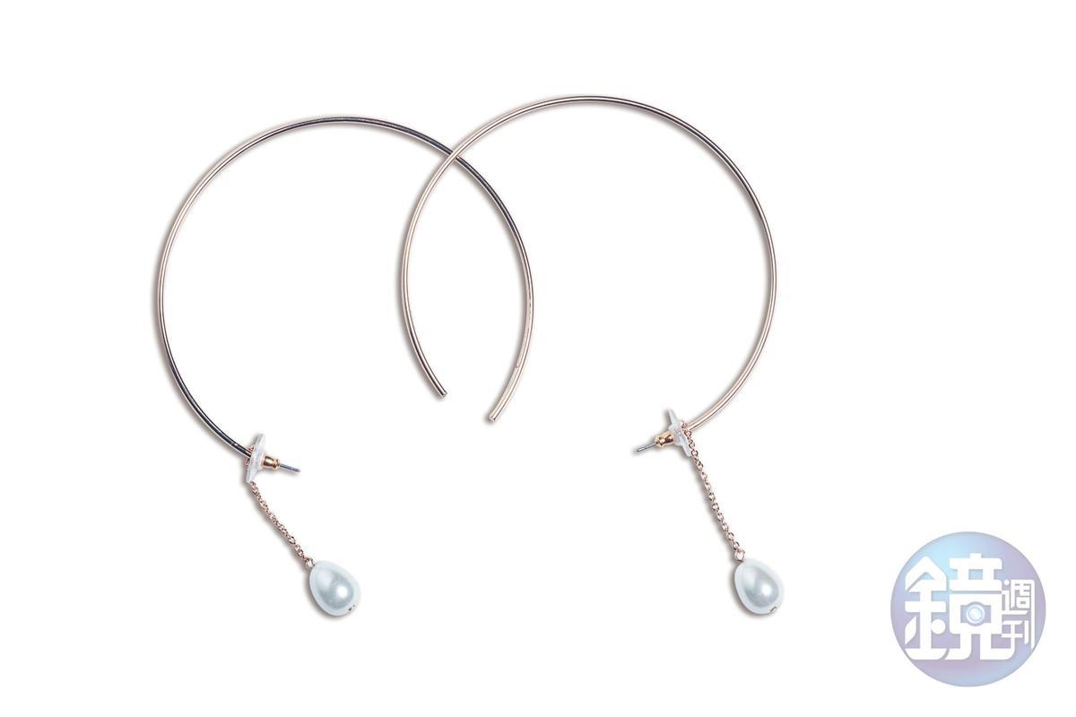 SHOPBOP購物網站買的珍珠耳環。約NT$2,500
