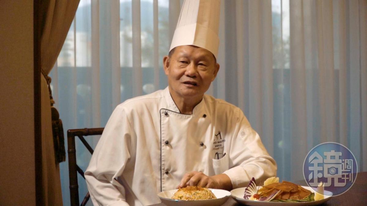 國寶級台菜師傅董清欽傳授烏魚子入菜心法。