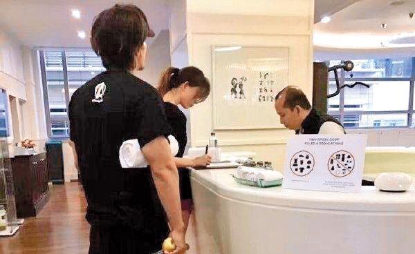 林志玲與言承旭因為一張在健身房被拍下的同框照,爆出「世紀復合」大喜訊。(翻攝自微博)