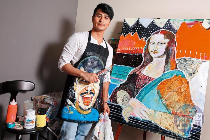 3年前郭彥甫宣布放棄500萬年收轉型當畫家,據說他的畫如今可賣到6位數價錢。