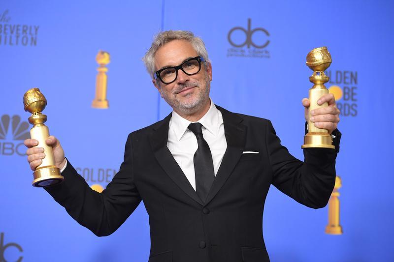 以《羅馬》(ROMA)拿下本屆2座金球獎的導演艾方索柯朗呼籲,戲院和影音串流平台業者應該合作,以免對電影造成傷害。(東方IC)