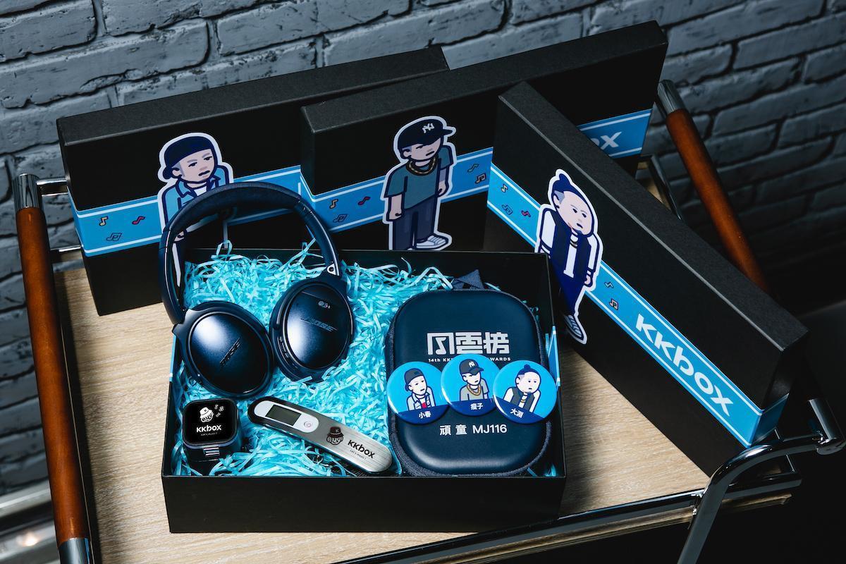 KKBOX風雲榜將送給出席藝人禮物包。(KKBOX提供)
