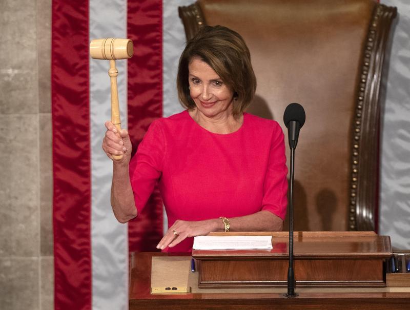 78歲的美國民主黨大老裴洛西二度執掌眾議院,再次成為美國政壇中最有權勢的女性。(東方IC)