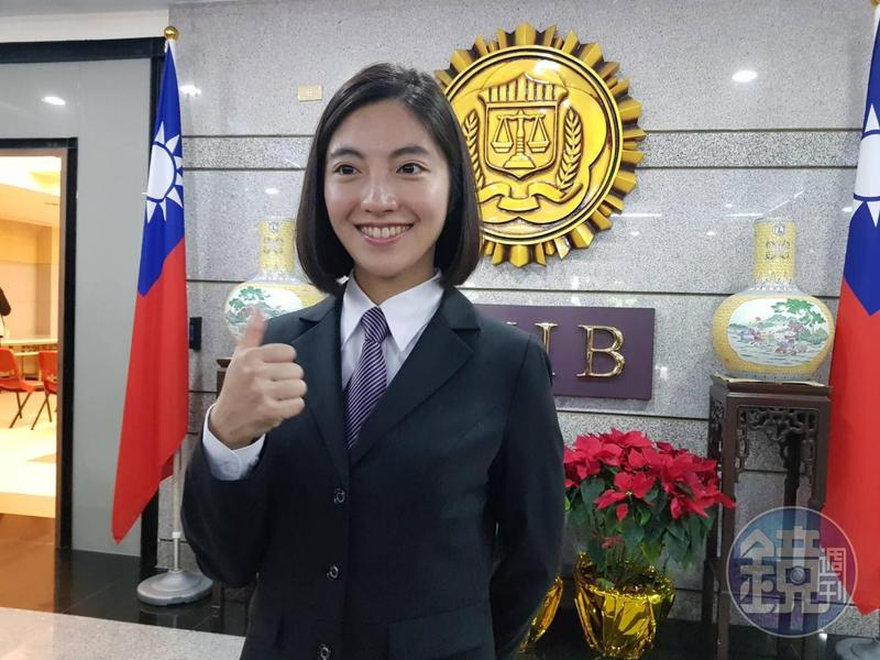 55期調查官林婉瑜,不只長相甜美,且已取得律師資格,最為吸睛亮眼。