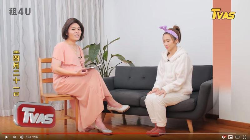 網紅又仁模仿「方念滑」訪問Lulu。(TVBS提供)