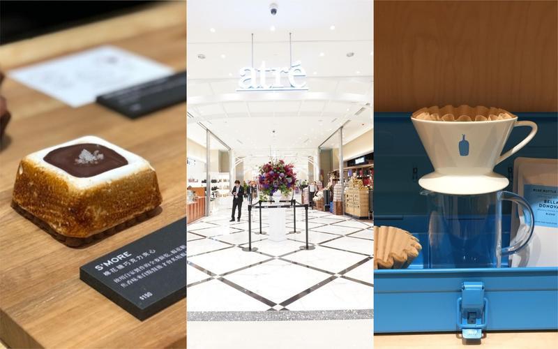 微風南山2樓「atré」匯聚的海外名店,是到此首逛重點。(中圖為微風南山提供)