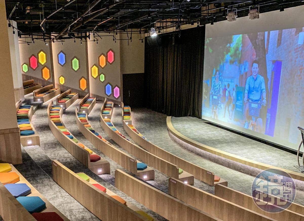莊園「互動劇院」除了舉辦會議活動外,也不定時播放全家共賞電影。