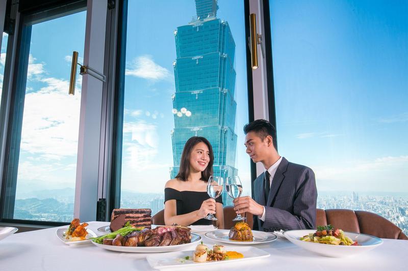 微風南山46到48樓層,合計有8家高空景觀餐廳。(圖片由Smith & Wollensky台北店提供)
