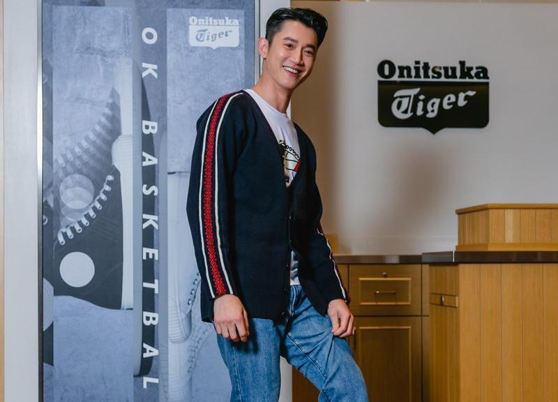 吳慷仁今出席日式時尚休閒品牌Onitsuka Tiger概念店舉辦開幕慶祝活動。(Eurus PR、ASICS Taiwan提供)