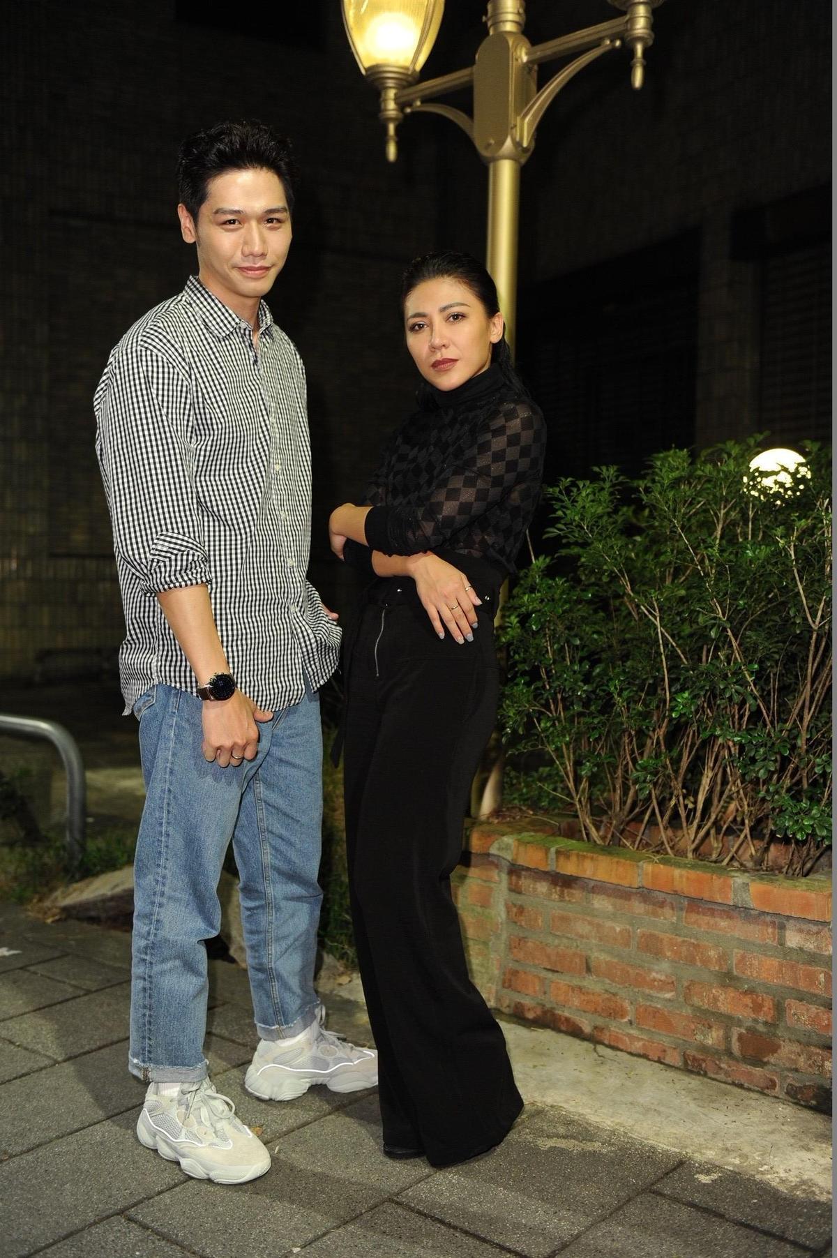 好友蔡旻來到現場給艾怡良打氣,兩人原來已有三個月沒見面。(EMI環球提供)