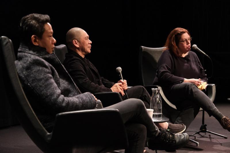 蔡明亮導演與李康生至阿姆斯特丹參與VR電影《家在蘭若寺》展映活動。(HTC提供)