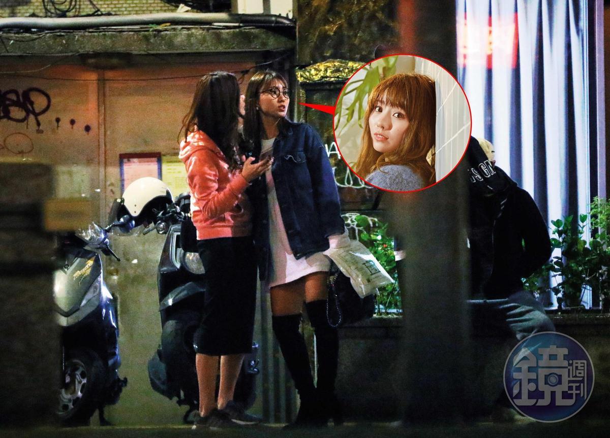 池端玲名和女友人在夢多店裡待到凌晨2點多,才離開去對面餐廳吃宵夜。