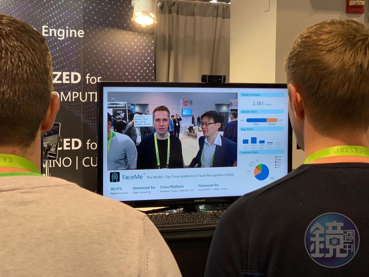 訊連在日前CES展向全球展示AI人臉辨識引擎FaceMe。