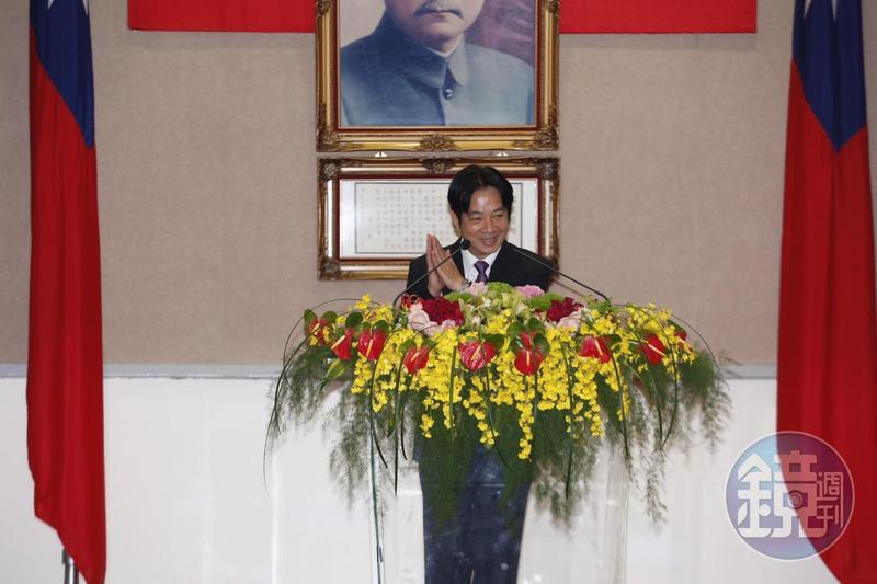 行政院長賴清德卸任致詞時拋出台灣內部3大問題。