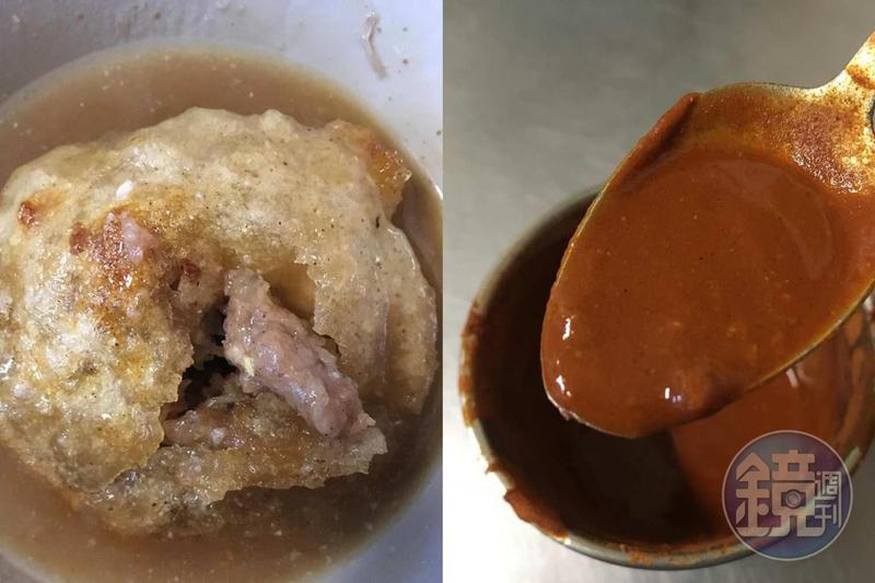 彰化肉圓配辣椒醬,確實是人間美味。
