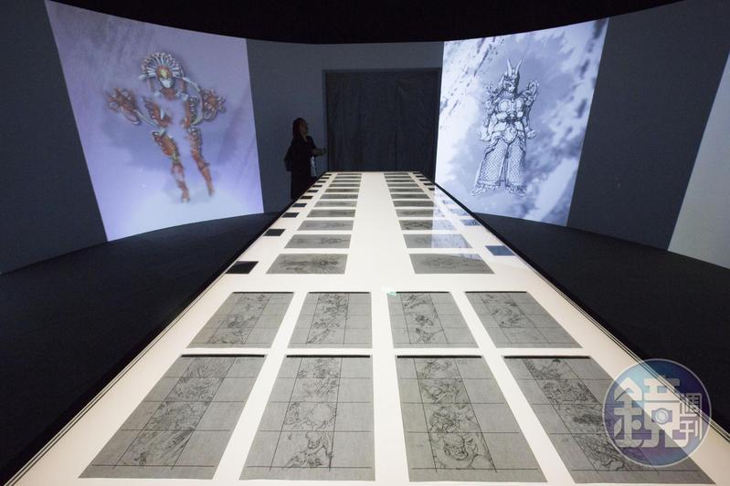 《鄭問之三國誌》將在故宮南院展出,圖為去年在台北故宮的鄭問展覽。(楊子磊攝影)