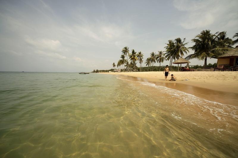 越南西南部的富國島海與沙灘純淨自然,吸引了眾多韓國人前去觀光。(東方ic)