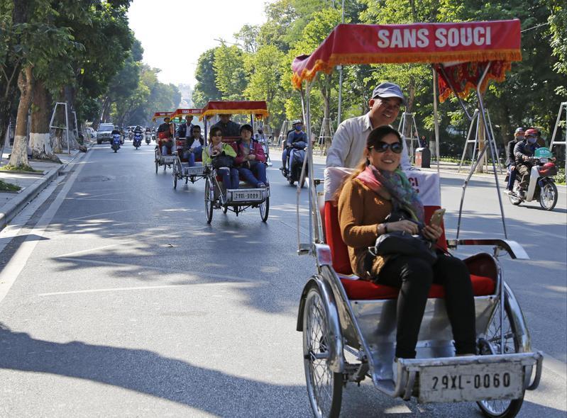 越南的韓國觀光客日增,逐漸逼近占越南觀光客最大宗的中國遊客。(東方IC)