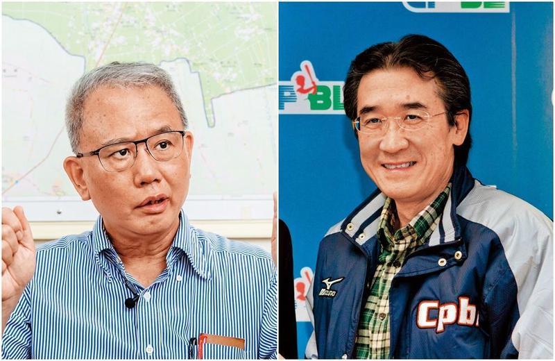前中職會長黃鎮台(右圖,東方IC)與頂新三董魏應充(左圖),在2013年曾會面,當時雙方對味全龍回歸已有默契。