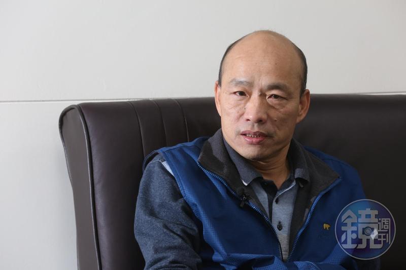 高雄市長韓國瑜到議會備詢,韓國瑜坦言12巷政見只有路平、愛情產業鍊沒問題,其他還要努力。(本刊資料照)