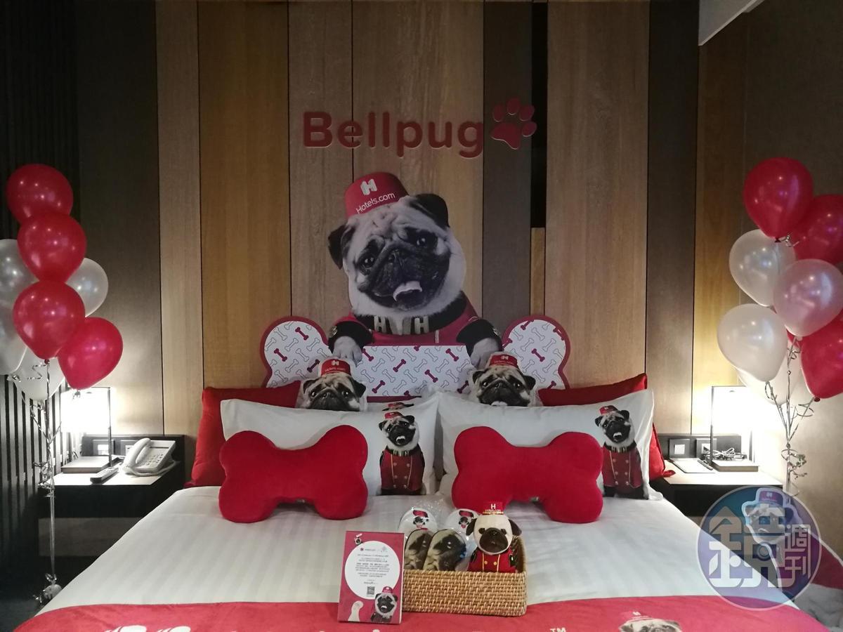 喜愛巴哥犬的狗迷們肯定不能錯過「Bellpug主題房」。