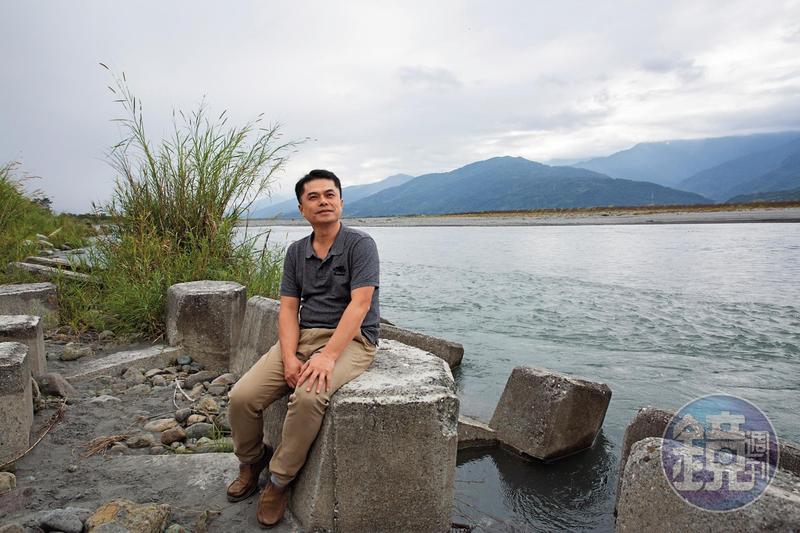 王嘉納從小在花蓮長大,秀姑巒溪是他北上求學時非常想念的地方。