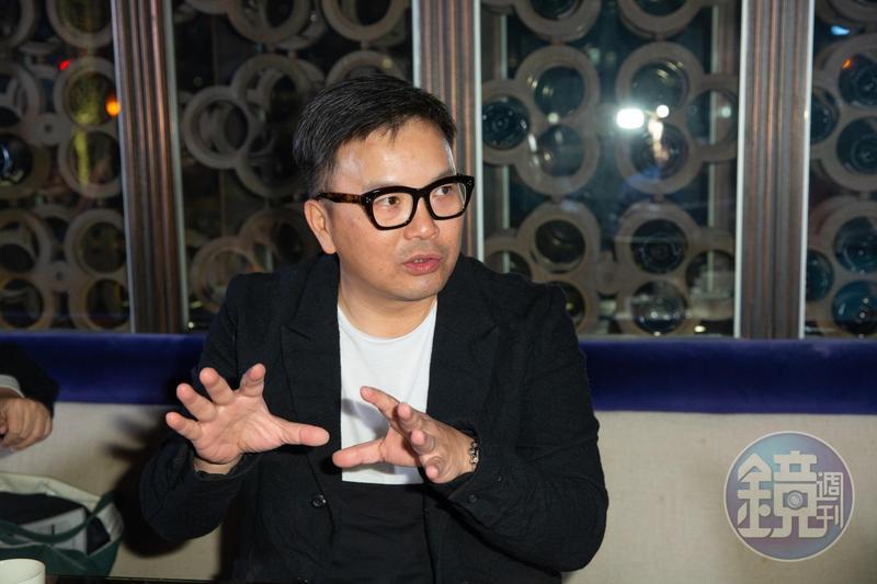 港片《廉政風雲 煙幕》導演麥兆輝來台宣傳新片。