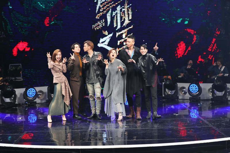 《聲林之王》蕭敬騰、羅志祥、林宥嘉、ELLA、信及LULU難得同框。(ETtoday新聞雲提供)