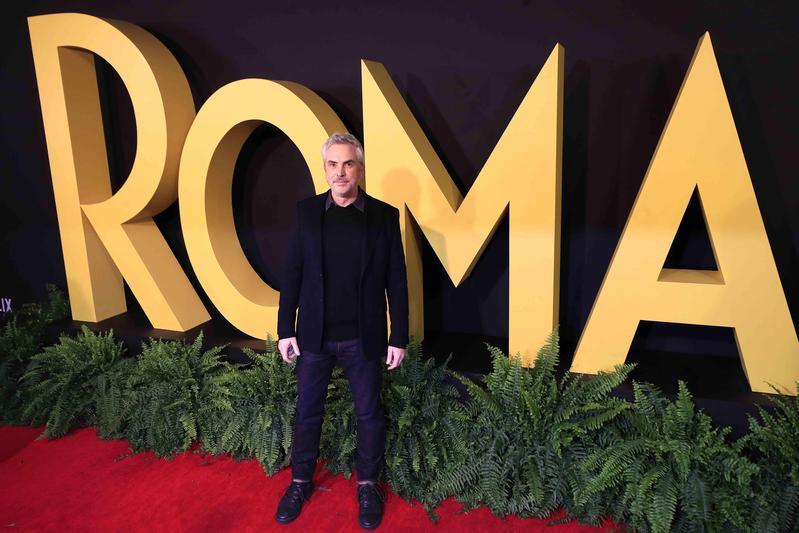 導演艾方索克朗出席在墨西哥市舉行的《羅馬》首映。(東方IC)