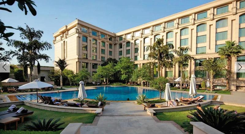 法王在出席會議時曾住在印度新德里酒店The Grand New Delhi。(翻攝The Grand New Delhi Hotel官網)