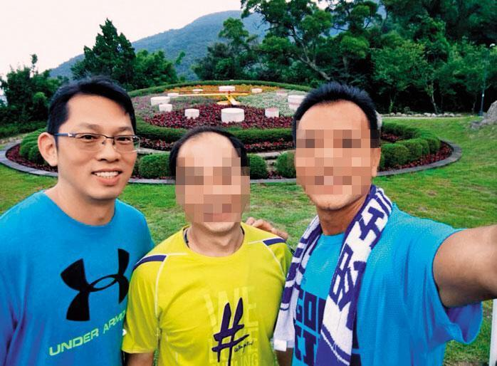 特勤中心人事組長李旺祥(左)為了王姓少校鑑測案,頻頻放話修理2名鑑測官。(翻攝洪國仁臉書)