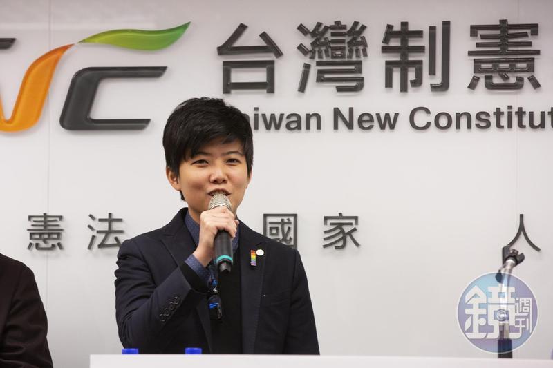 社民黨台北市議員苗博雅今(23日)出席制憲基金會活動。