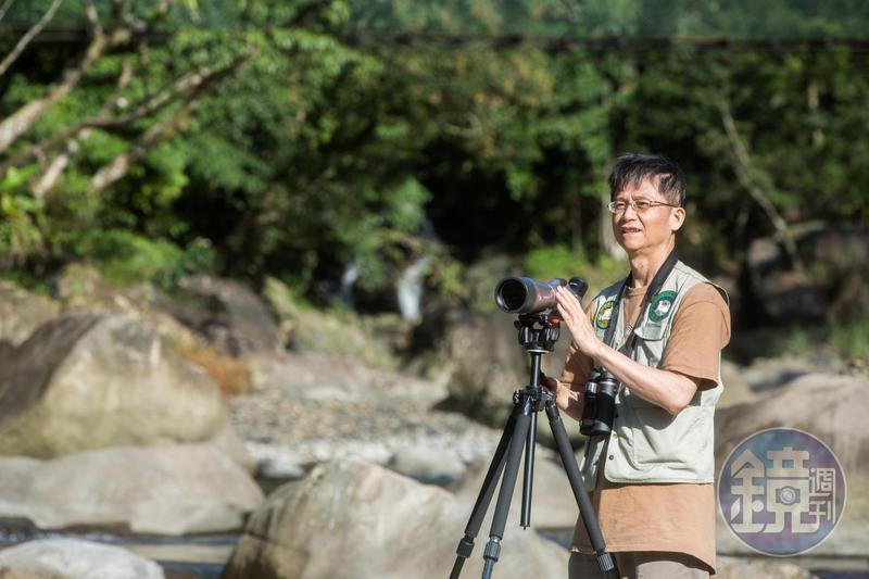辭去環保署副署長一職後,詹順貴重拾過去看山賞鳥的興趣,回到山林重溫自由人的感受。