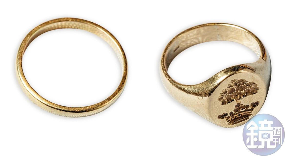 倫敦買的兩只金戒指,約NT$40,000。