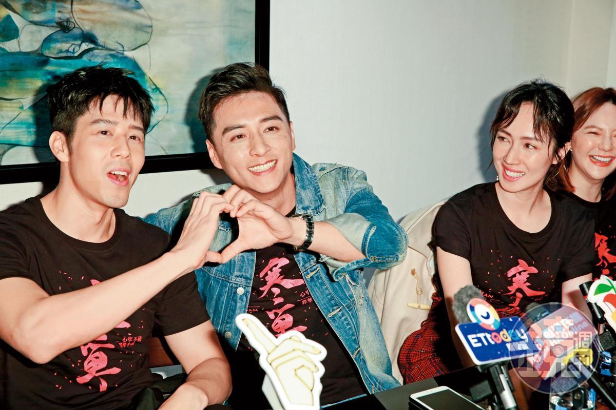 2019:宣傳《寒單》時,焦點明明都在鄭人碩(中)跟小薰(右)這對,但胡宇威(左)出來一直搶戲。