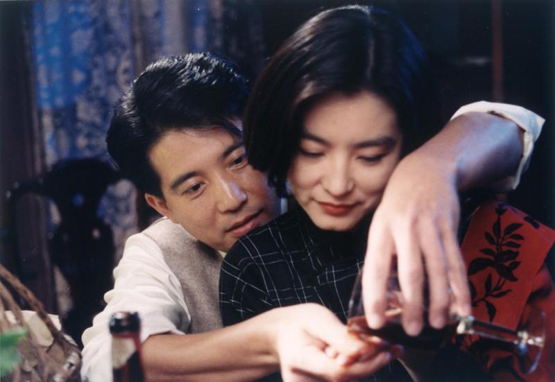 林青霞與秦漢合作《滾滾紅塵》時,依舊濃情蜜意。(甲上提供)