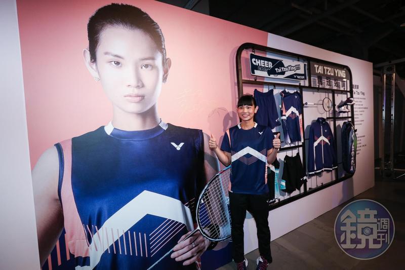 世界球后戴資穎由勝利贊助超過十年,勝利也於去年底推出她的系列服飾。