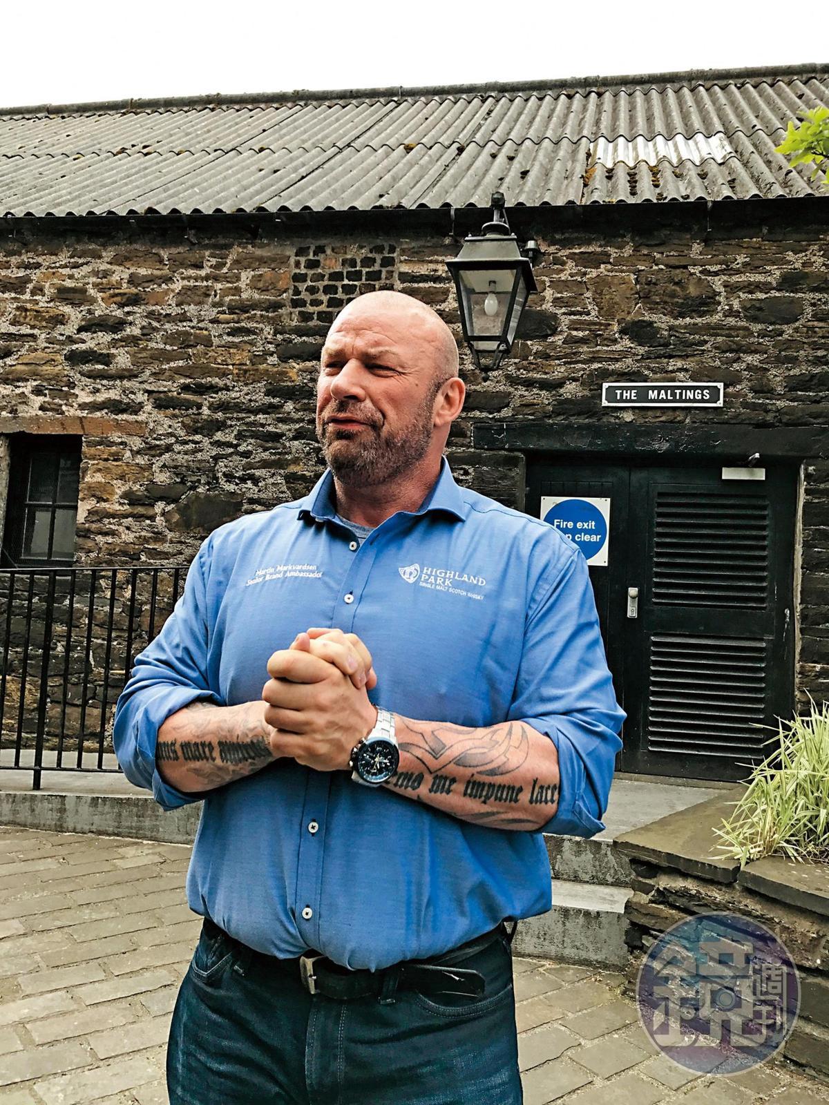 馬汀是酒廠的全球品牌大使,不僅有維京人血統,更是個對威士忌與酒廠充滿熱情的漢子。