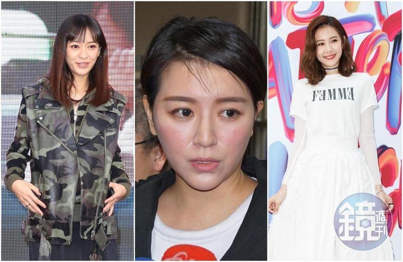 陳意涵(左起)、李妍瑾和安心亞都曾在不知情的情況下,當了第三者。(本刊資料照)