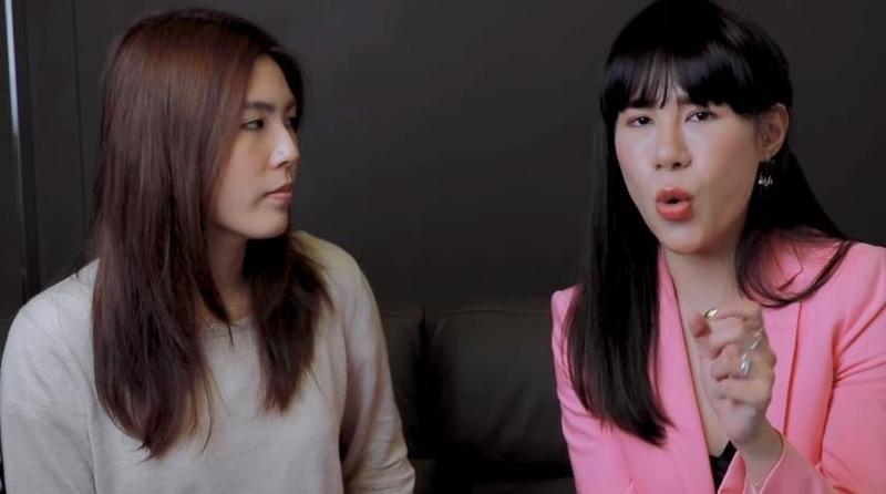 以科普生活知識的Youtuber理科太太,和美妝部落客丹妮婊姐討論戀愛對象的條件。(翻攝理科太太Youtube)