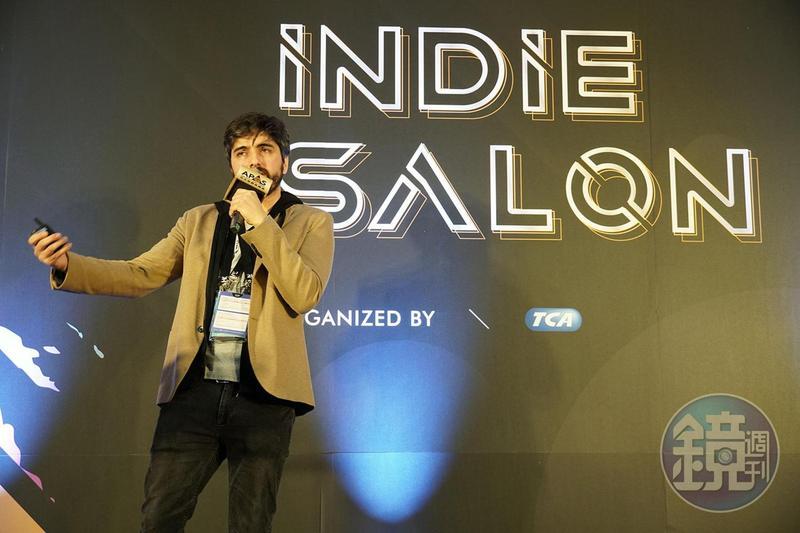 Appnormals Team共同創辦人迪亞茲在台北國際電玩展「Indie Salon」上,分享《駐留》的劇情發想。