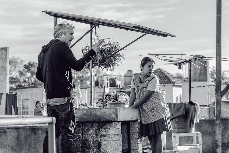 墨西哥導演艾方索柯朗(左)以《羅馬》入圍4項個人獎,該片連同最佳影片共獲10項提名。  (Netflix提供)