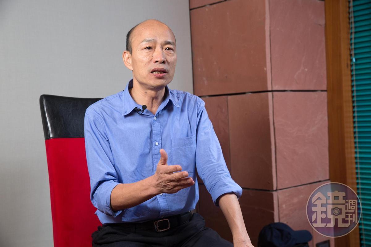 郝龍斌更直指柯文哲比不過韓國瑜(圖)的旋風,從網路聲量、市政熟悉度都可清楚看見。