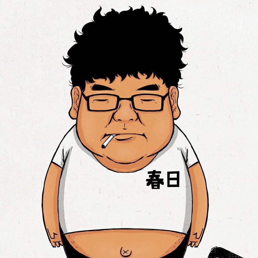 謝明賢平時穿著拖鞋不修邊幅的打扮,還經常菸不離手,孩子們都稱呼他「謝爸」。(翻攝自謝明賢臉書)