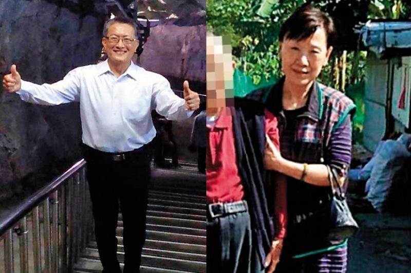 楚瑞芳(右)和將軍丈夫王光遠(左)是政治作戰學校政治系同班同學,楚女卻以北市的老公寓即將進行都更、土地整合,吸金近億元。(翻攝王光遠臉書)