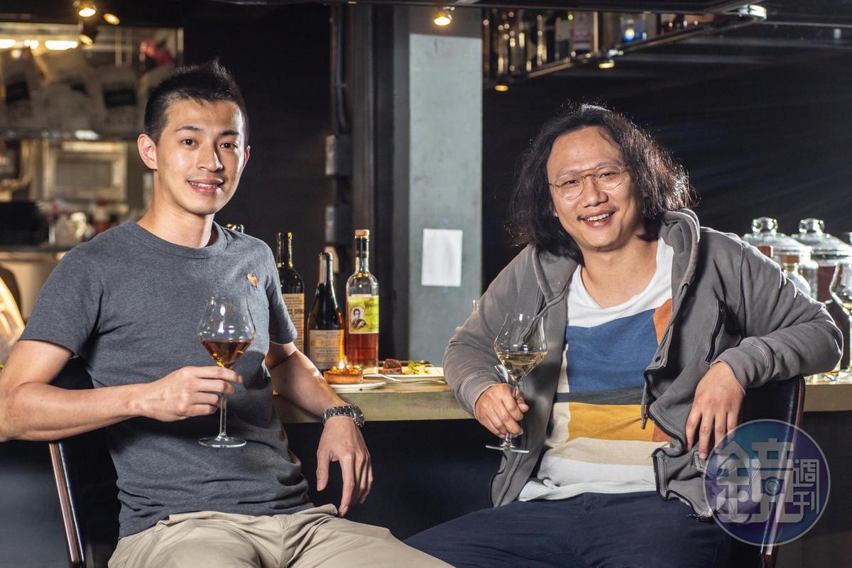 負責人Dean(右)與主廚Ali(左)創造Olí餐酒館美味的西班牙餐酒搭配。