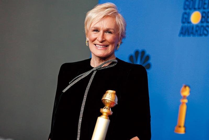 出道近40年,演技精湛的葛倫克蘿絲終於首度獲得金球電影類女主角獎,拿下小金人的可能性也大增。(東方IC)